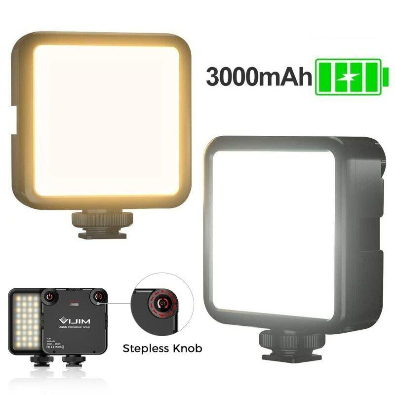 LED Video Light Mini Vlog Fill Light for Sony A6400 A6300 Rechargable DSLR SLR