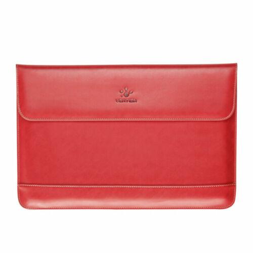 Slim Split Leather Sleeve Laptop Case Bag Pouch For 2020 MacBook Pro 13 Dell XPS