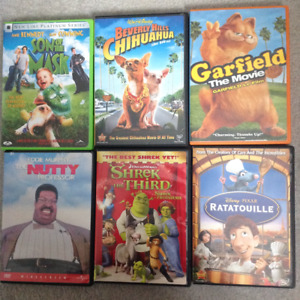 DVD'S- VARIOUS -CARS, SHREK, RATATOUILLE, SON OF MASK