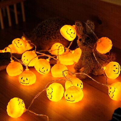 10/20 LED Pumpkin String Lights Halloween Party Decoration Lights Lantern Prop