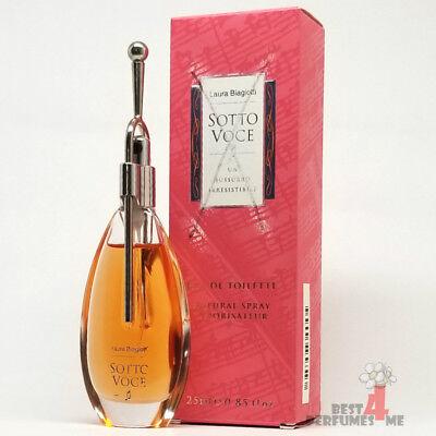 Sotto Voce By Laura Biagiotti For Women 0.85 oz/25 ml Edt Spray Very Rare!!!