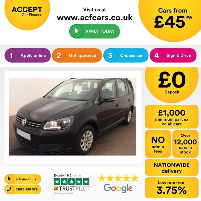 Volkswagen Touran 1.6TDI ( 105ps ) 2012MY S FROM £45 PER WEEK!