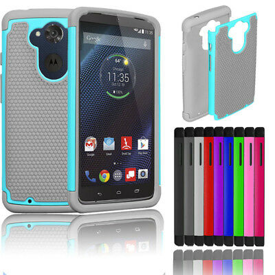 Hybrid Impact Matte Hard Case Cover Skin For Motorola Droid Turbo XT1254 Verizon