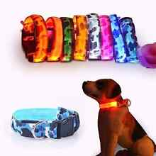 Camouflage flexible length 35-60cm LED dog collar with 7 colors s North Melbourne Melbourne City Preview