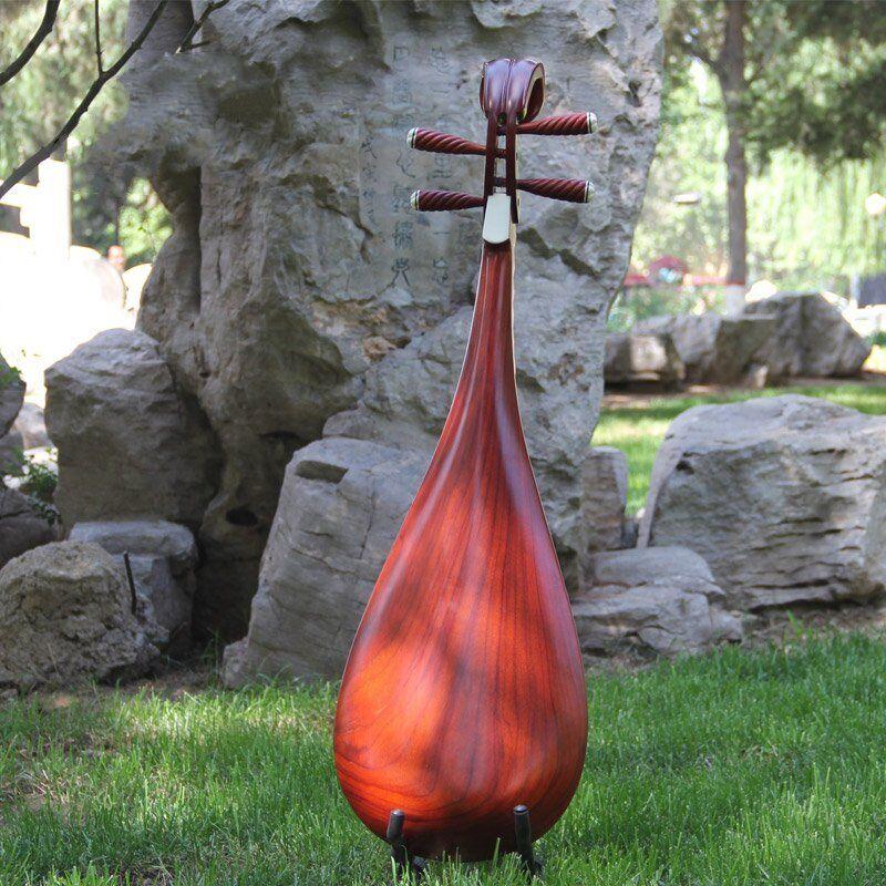 Liuqin - Chinese Soprano Pipa Lute Guitar Handmade Musical Instrument #4166