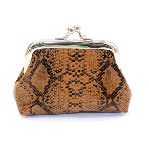 Mini Snake Skin Pattern Buckle Coin Women Girls Purse Clutch Handy Wallet Bag Ji