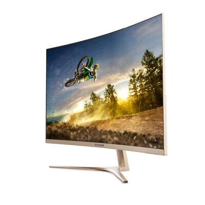 "Viotek 32"" GN32Q Frameless Curved Computer Monitor 2560x1440p 144Hz HDMI DP DVI"
