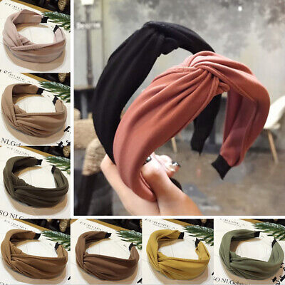 Soft Knot Cross Hair Band Headwrap Headband Hoop Cloth Girls Women Party Vintage