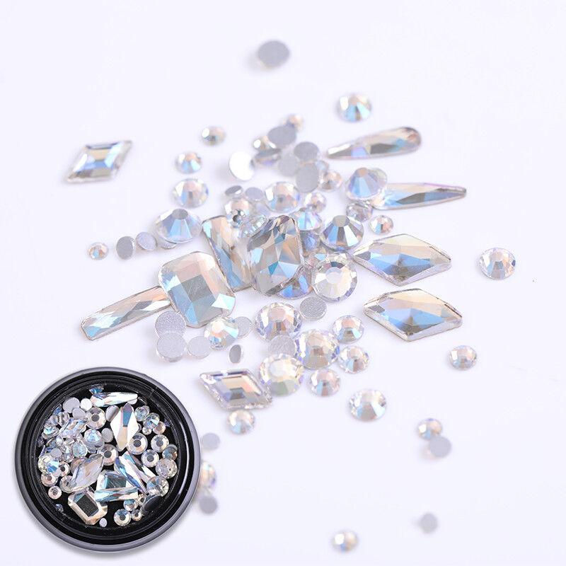 3D Nail Art Rhinestones Glitters Beads Acrylic Tips Decoration Manicure Wheels
