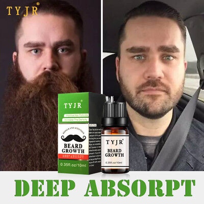 Men Facial Hair Grow Thick Beard Growth Oil Serum Mustache Growth Liquid
