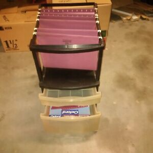 Open Top Hanging File Cabinet - $5