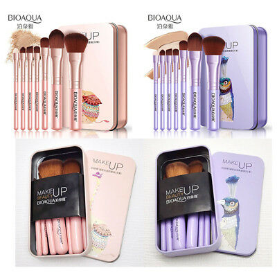 (BIOAQUA 7Pcs Makeup Brushes Set Eye Lip Face Foundation Brush Cosmetic Tools)