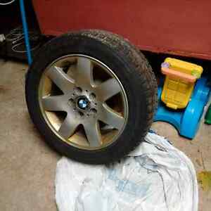 GREAT CONDITION 4x Blizzak 205/55R16 winter tires on BMW rims