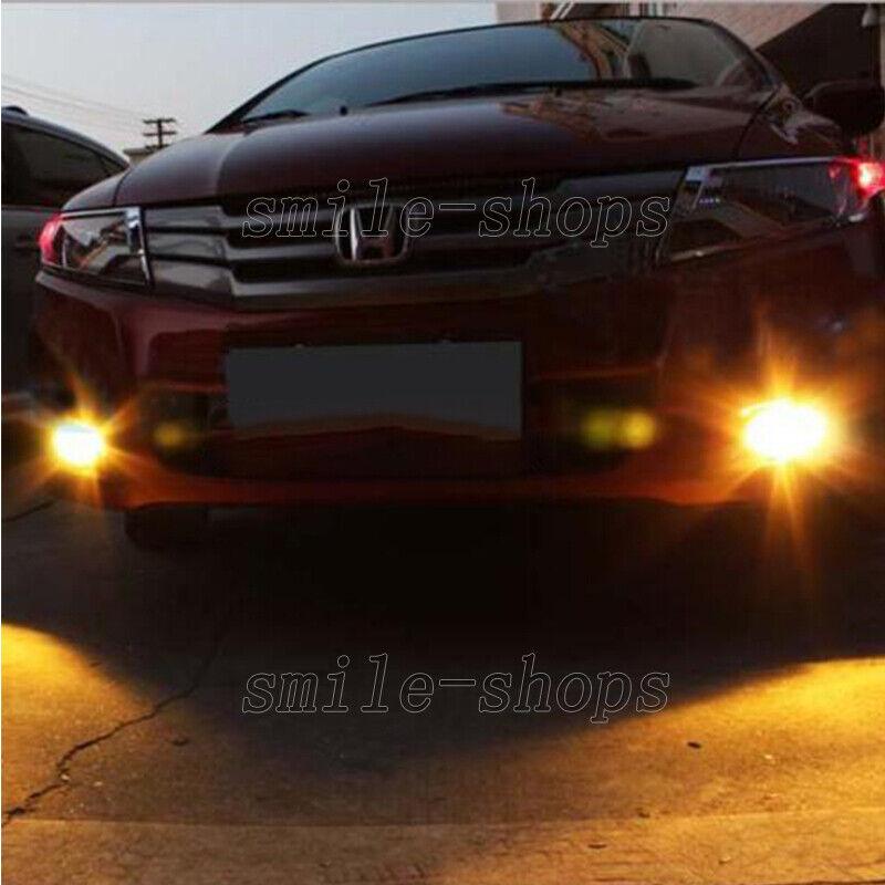 2pcs-H3-10-SMD-5730-Nice-Amber-LED-Fog-Light-Driving-Daytime-Running-Light-Bulbs