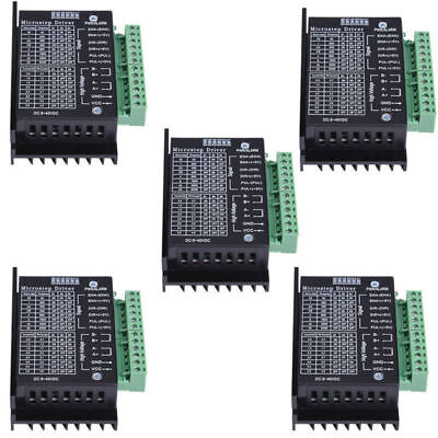 5x Cnc Single Axis 4a Tb6600 24 Phase Hybrid Stepper Motor Controller Drivers