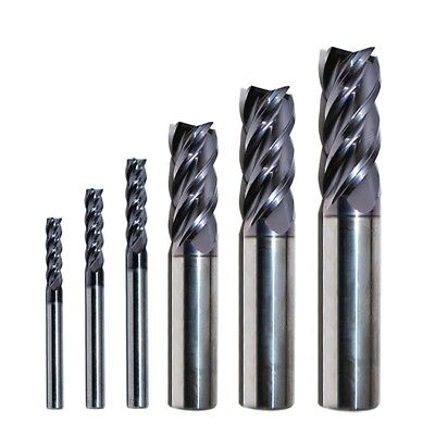 Carbide End Mill Set Sizes 18 - 12 Rip Cutting Tools 6-pc 4-flute Se Altin Hp