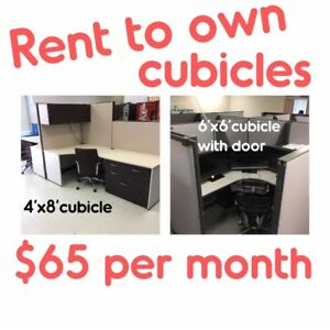 RENT TO OWN, EXCELLENT CONDITION, OFFICE CUBICLES, MANY AVAIL.