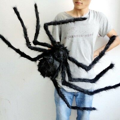 Giant Black Spider Haunted House Prop Indoor Outdoor Halloween Party - Giant Halloween Spiders
