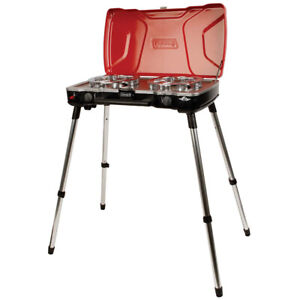 Coleman propane stove with stand, new