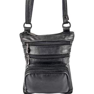 Casual Outfitters Black Ladies Solid Leather Small Shoulder Bag  090b447577d93