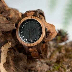 Handmade  Vintage Zebra Wood Watch BOBO BIRD D30  Free Shipping