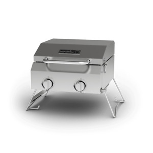 2-Burner Portable Propane Gas Table Top BBQ Grill