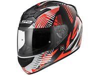LS2 FF352 Rookie Motorcycle Helmet Infinite White, Red, Black