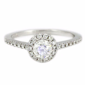 14k White Gold Halo Diamond Engagement Ring (0.65 tdw) #2294