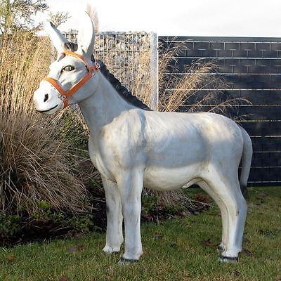 DEKO ESEL lebensgroß 100 cm Garten Tier Figur Gartenfigur BAUERNHOF Dekoration