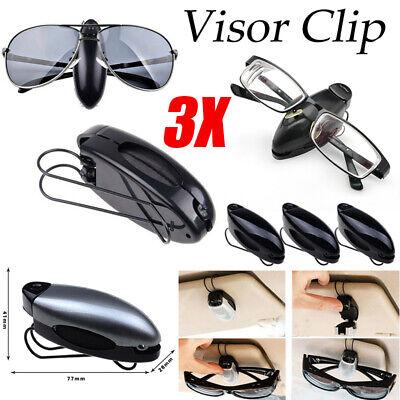 3 Pack Glasses Holders for Car Sun Visor Sunglasses Eyeglasses Ticket Card (Sunglass Clips For Car Visors)