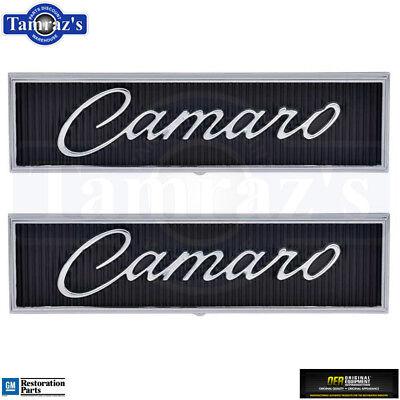 1968 1969 Camaro Standard Door Panel 'Camaro' Emblem Pair OER 7746554 New