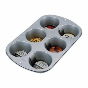 Wilton 6-Cup Jumbo Muffin Cupcake Nonstick Baking Pan, New