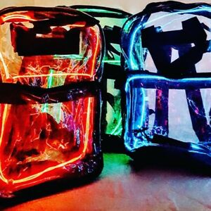 SALE!!!GLOW Backpacks-Stay Safe and Be Visible While Walking Dog