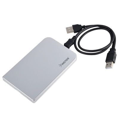 "2.5"" Inch Silver Sata USB 2.0 Hard Drive HDD Enclosure External Laptop Disk Case"