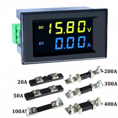 Dc 0-600v 10a 20a 50a 100a Lcd Digital Voltage Amp Panel Meter Voltmeter Ammeter