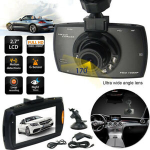 HD 1080p Car DVR LCD Cam Video Recorder Dash G Sensor Night Visi