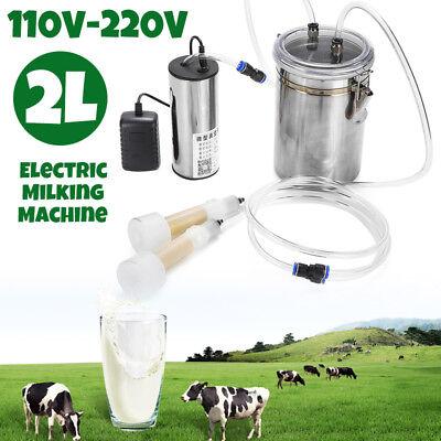 2l Portable Electric Milking Machine Vacuum Pump For Farm Sheep Goat Milking