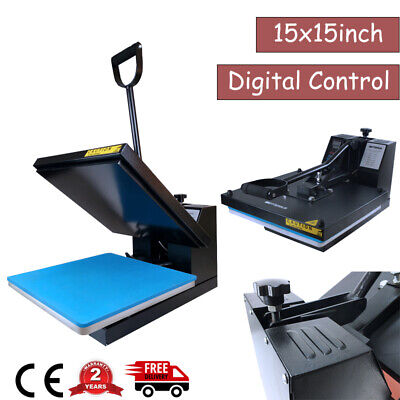15x15in Digital Heat Press Machine Sublimation Clamshell Transfer For T-shirts