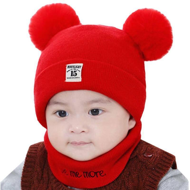 Toddler Kids Girl Baby Knit Beanie + Scarf