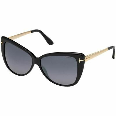 Tom Ford Reveka Women Sunglasses Black w/Grey Lens  FT0512 (Tom Ford Cat Eye Sunglasses)