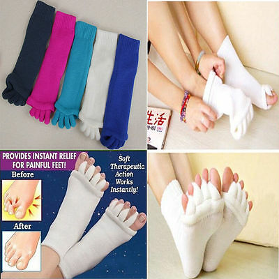Comfy Toes Foot Alignment Socks Relief for bunions hammer toes cramps happy (Happy Feet Socks)