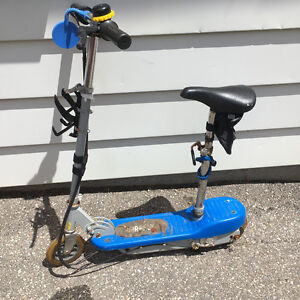 Blue Electric Firefly Motorized Scooter