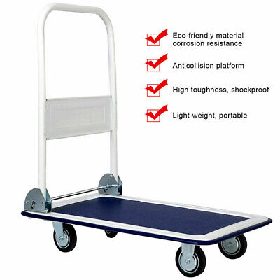 Hand Truck Platform Cart Dolly Cart Push Moving Warehouse Foldable New 330lbs Us