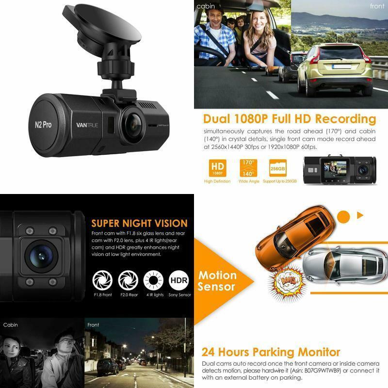 Vantrue N2 Pro Uber Dual Dash Cam Infrared Night Vision Dual