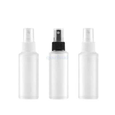 3Pcs Empty 50ml Glass Frosted Clear Mist Spray Bottles Perfume Sprayer Atomizer