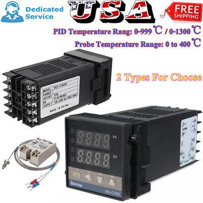 0-1300 Alarm Rex-c100 Digital Led Pid Temperature Controller Kits Ac100v-240v
