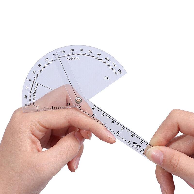 Medical Finger Goniometer Plastic Protractor 180 Degree Angle Ruler Finger Ru HB