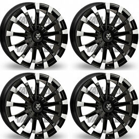 Wolfrace Renaissance 20″ Black and Polished Alloy Wheels for VW T5 T5.1 and T6