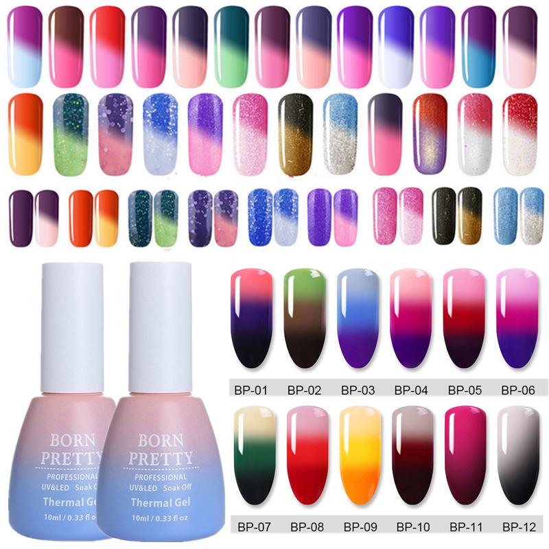 10ml BORN PRETTY Temperature Color Changing Soak Off UV Gel