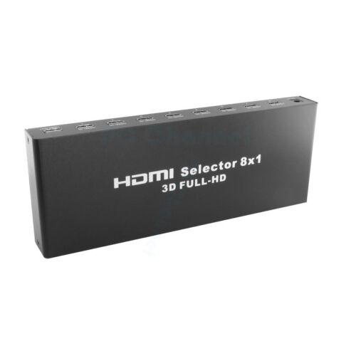 8 Port 1080P Video Aluminium HDMI Switch Switcher for HDTV P